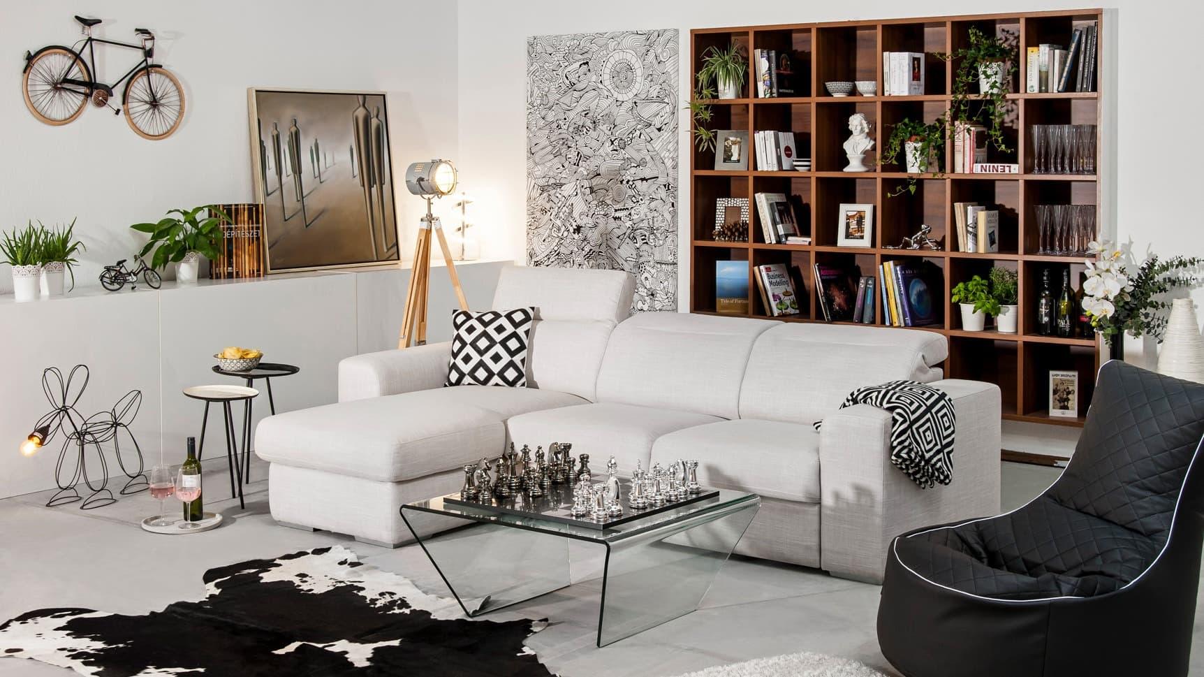 Manhattan III lábtartós kanapé