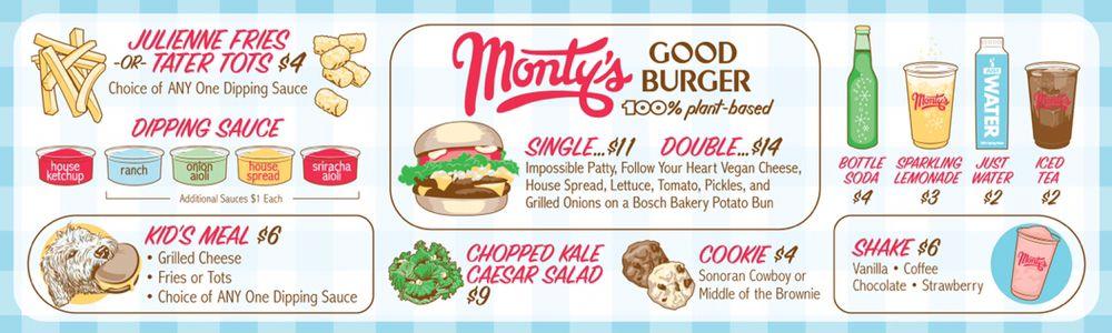 Monty's Good Burger 메뉴
