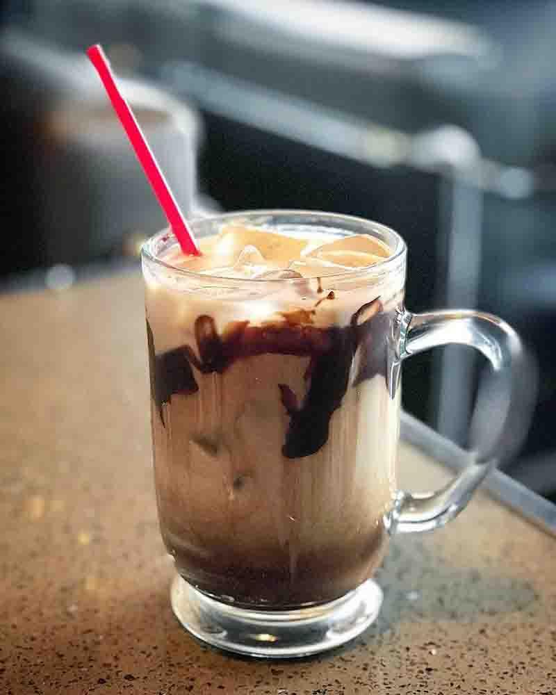 카페 스팟 아이스모카