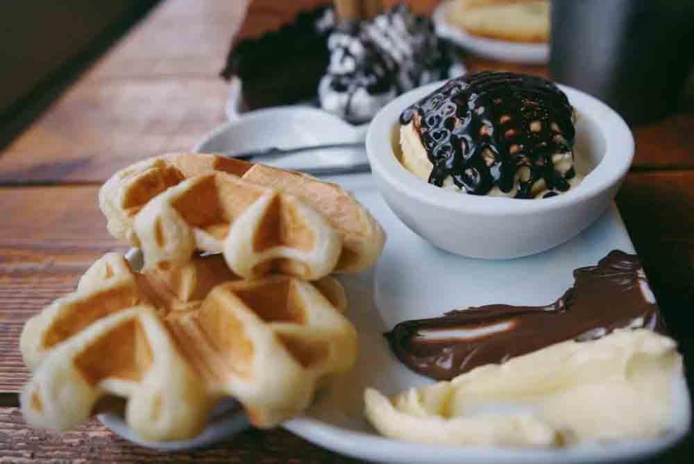 카페 코로보쿠르 와플아이스크림