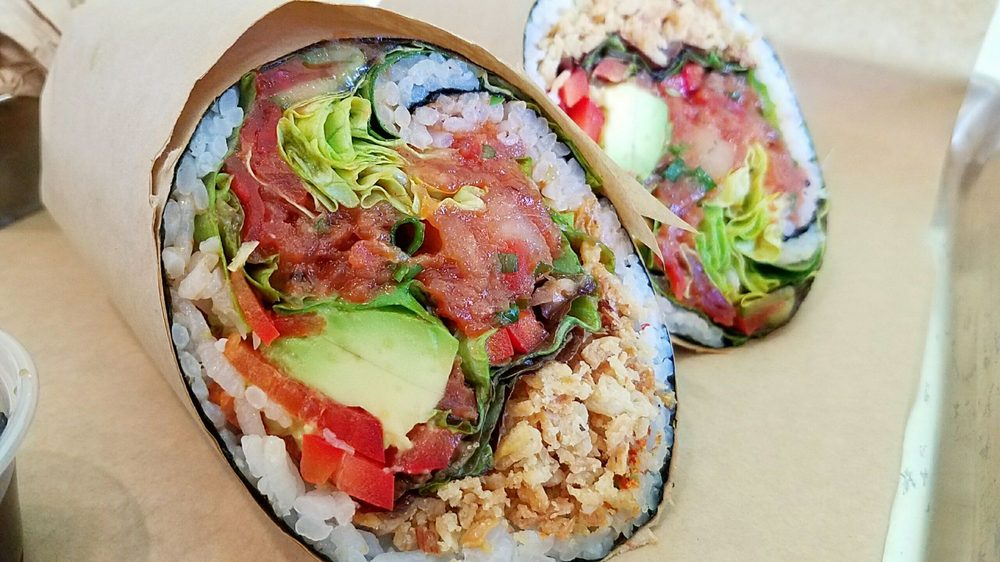 포키몰리 Salmon Spicy Tuna Buritto