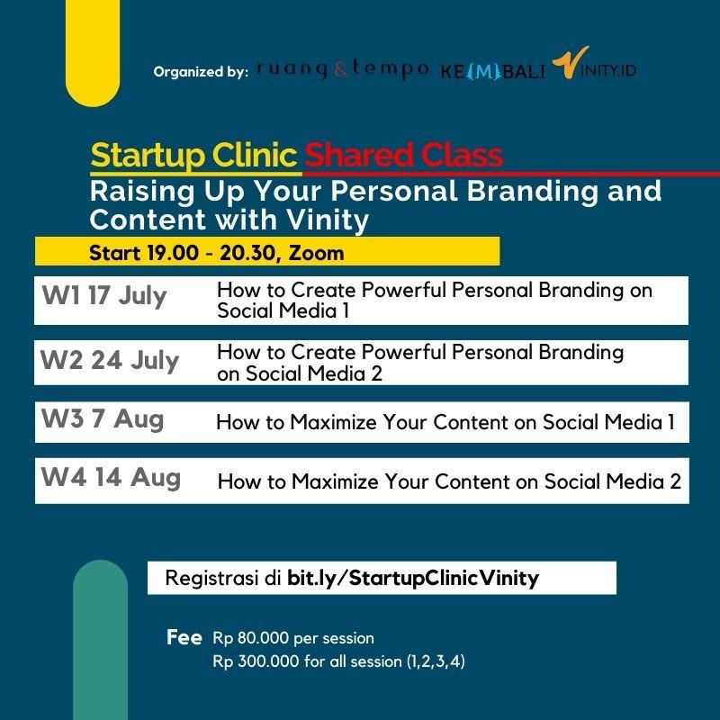 Startup Clinic: Raising Up Your Personal Branding and Content with Vinity ID