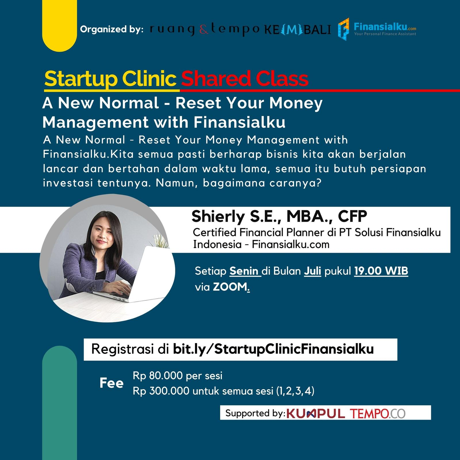 Startup Clinic: A New Normal - Reset Your Money Management with Finansialku