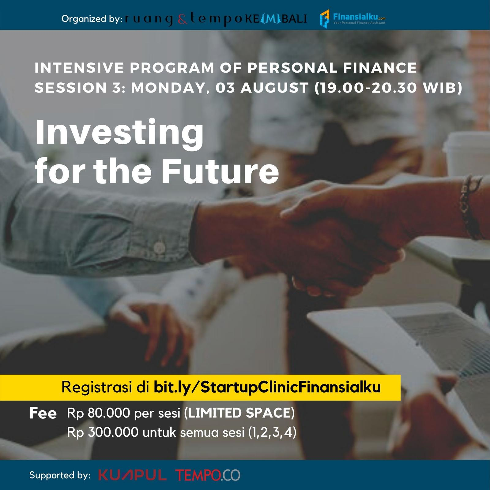 Startup Clinic x Finansialku: Investing For The Future