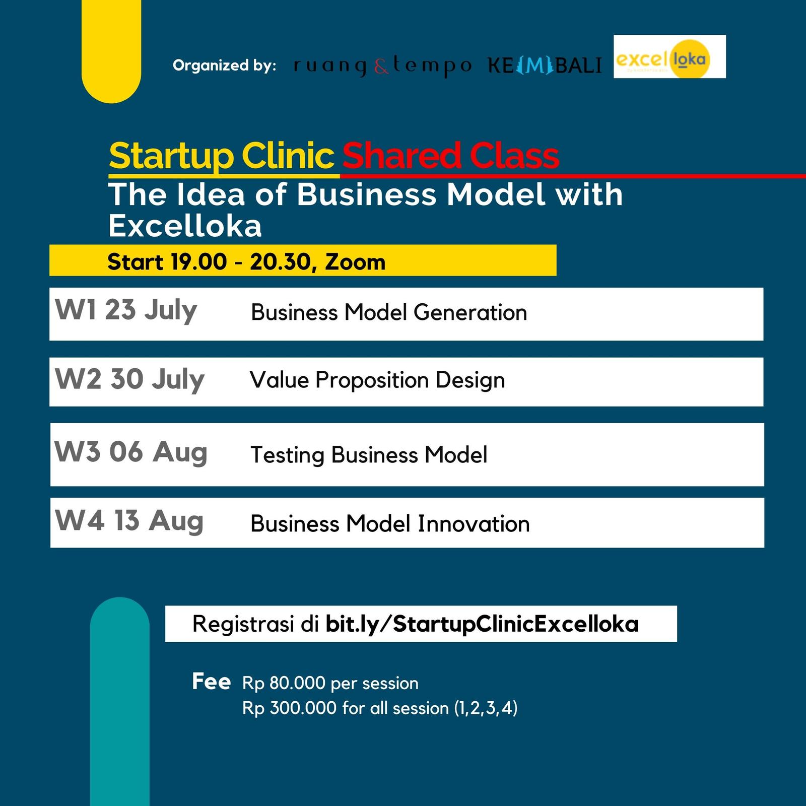 Startup Clinic: The Idea of Business Model with Excelloka