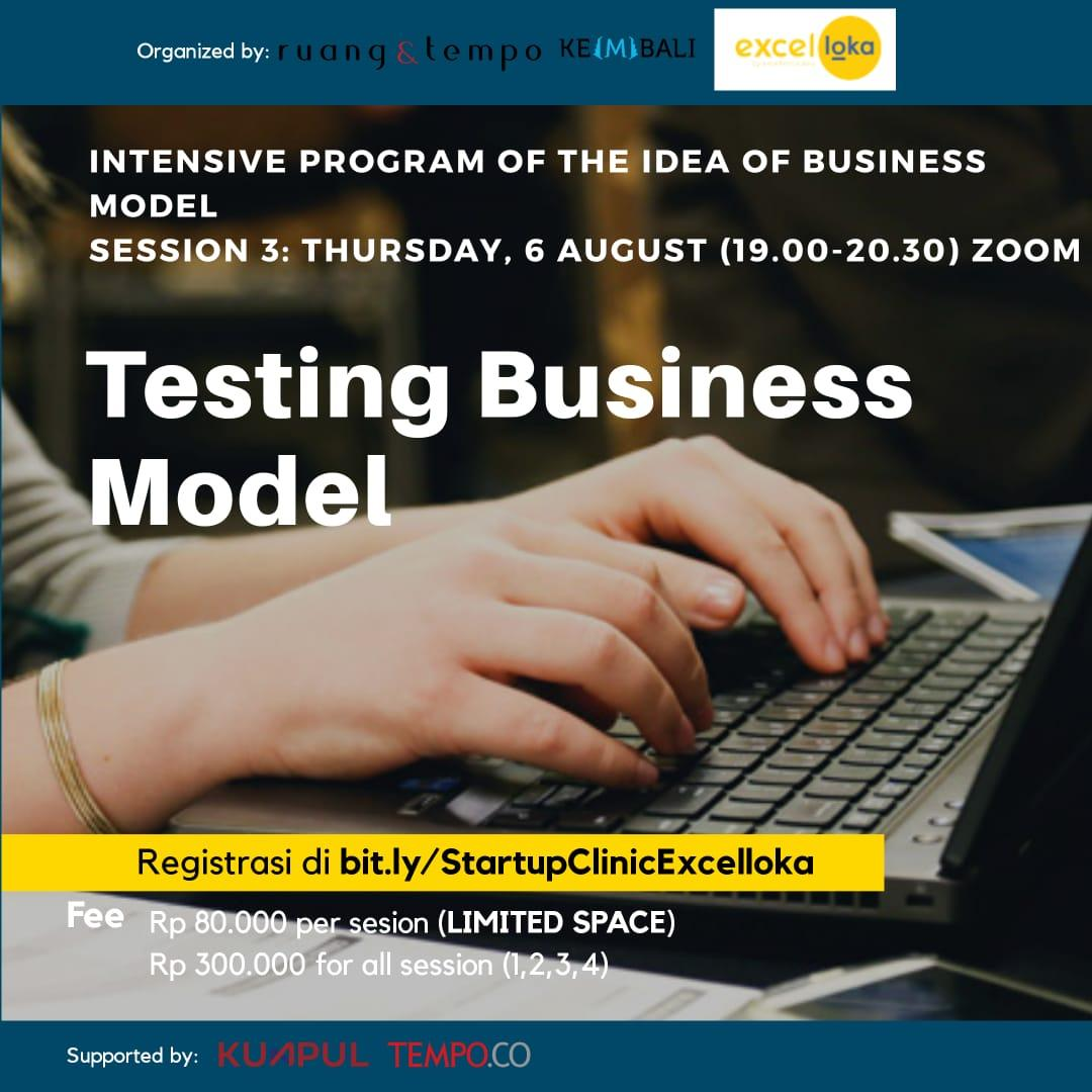 Startup Clinic x Excelloka: Testing Business Model