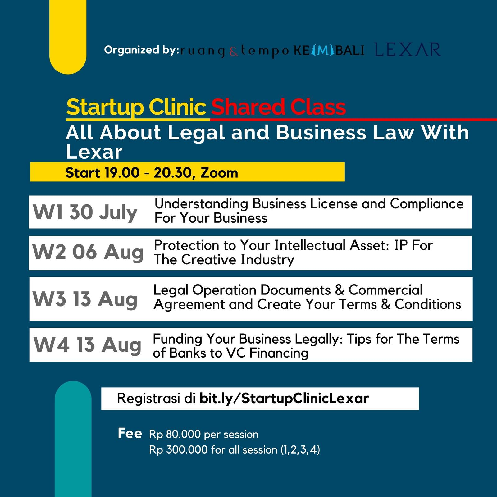 Startup Clinic: All About Legal and Business Law with Lexar
