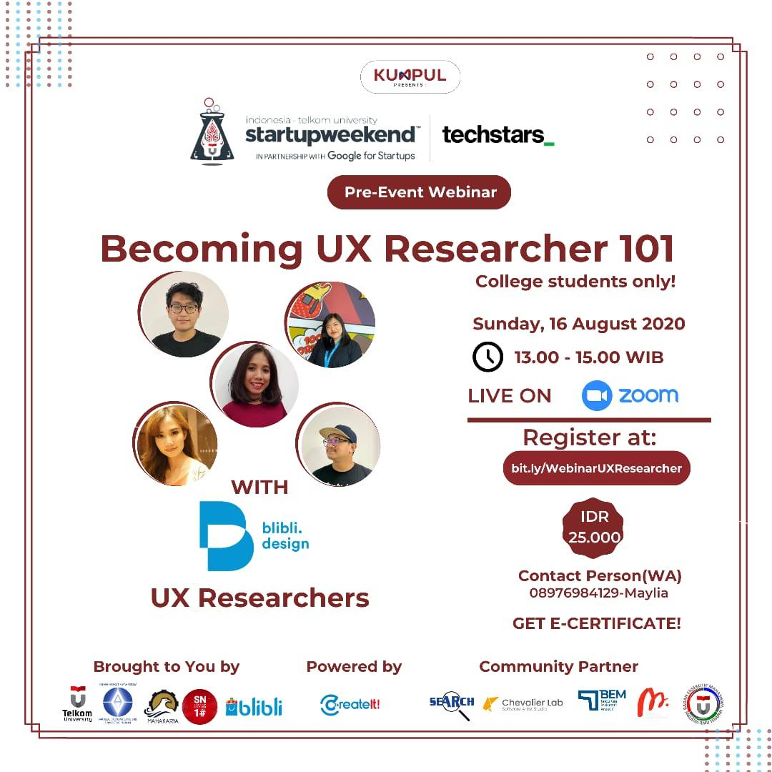 Becoming UX Researcher 101 with Blibli Design UX Researchers Team