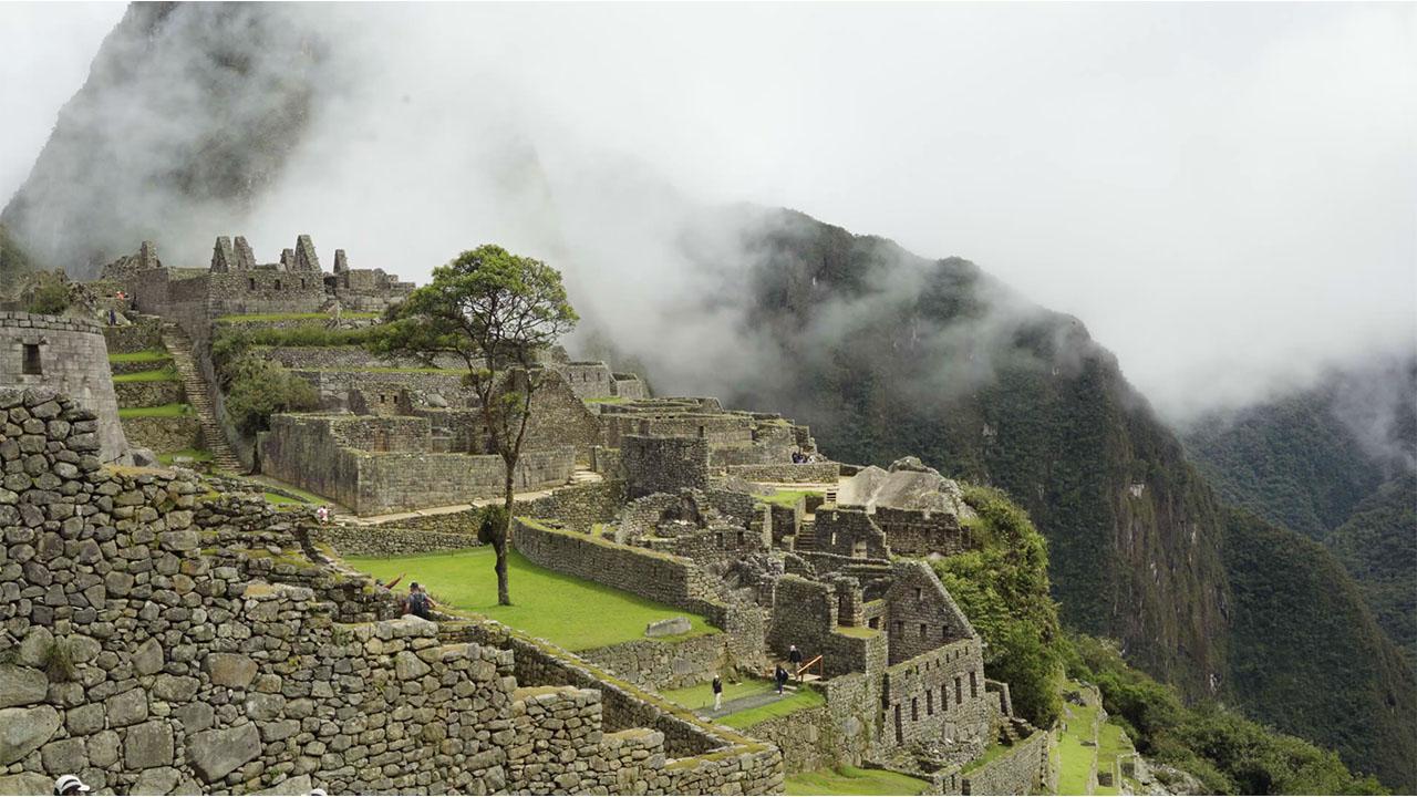 Machu Picchu, an Incan citadel