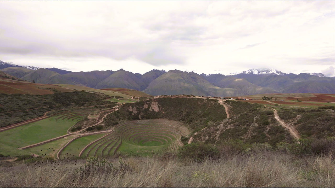 Ancient archaeological site of Moray in The Sacred Valley