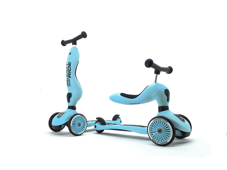 2 i 1 Løbecykel/ Løbehjul - Blueberry