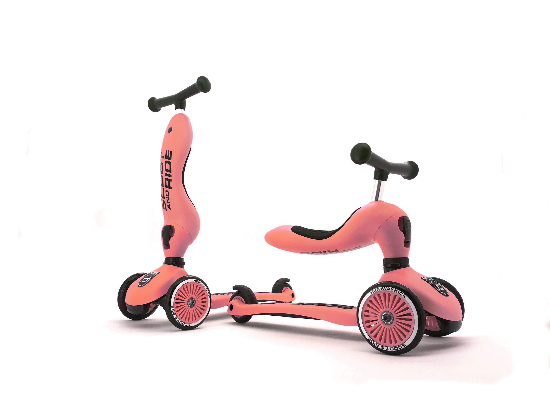 2 i 1 Løbecykel/ Løbehjul - Peach
