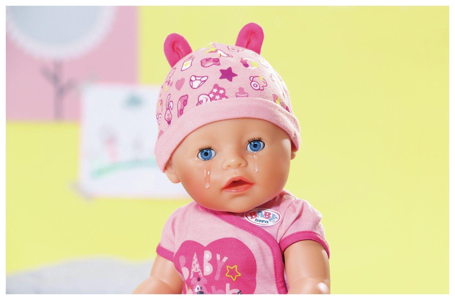 Blød dukke med blå øjne