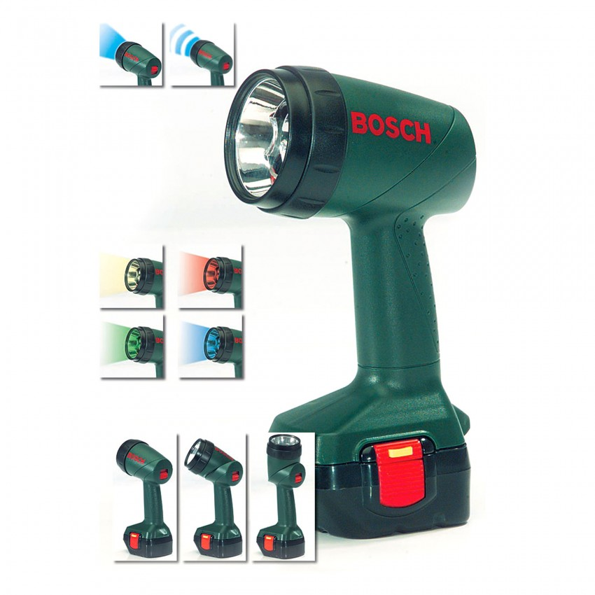 Bosch - Legetøjs Lygte m/farvet lys