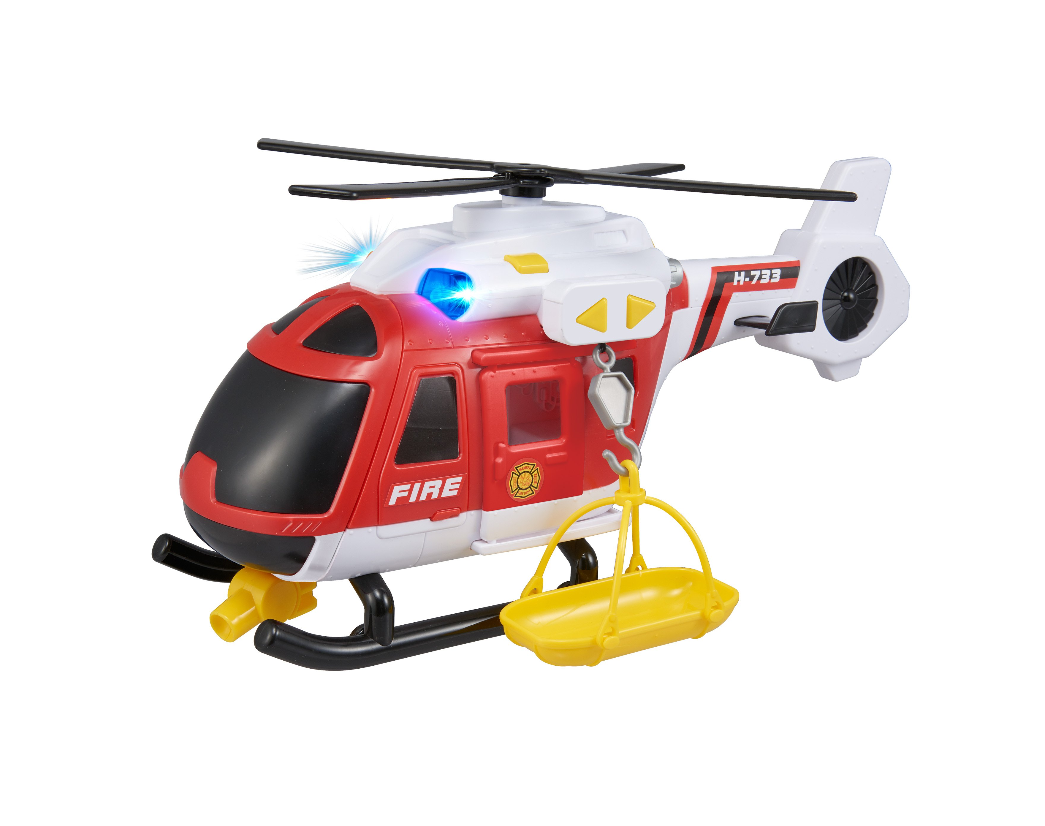 Brand Helicopter med lyd og lys