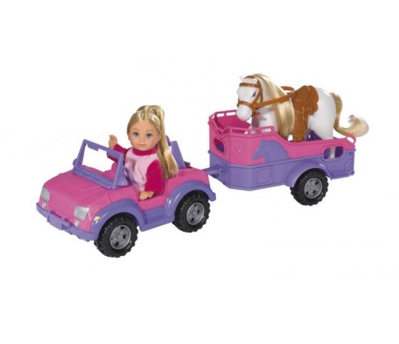 Dukke med Hestetrailer