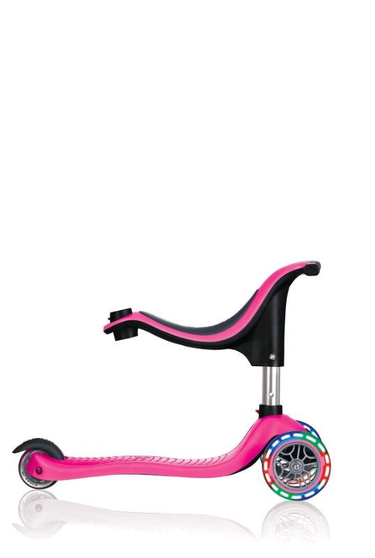 Evo 4-i-1 Løbehul med Lys - Pink