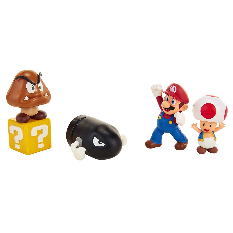 Figursæt 6 cm - 5 Figurer Mario Acorn Plains Diorama