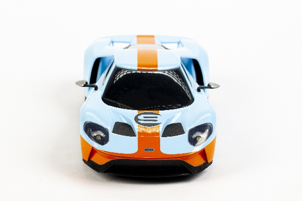 Ford GT 1:24 Blå/Orange m. Motor Lyd