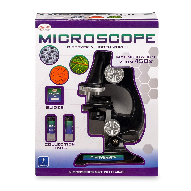 Mikroskop sæt med lys
