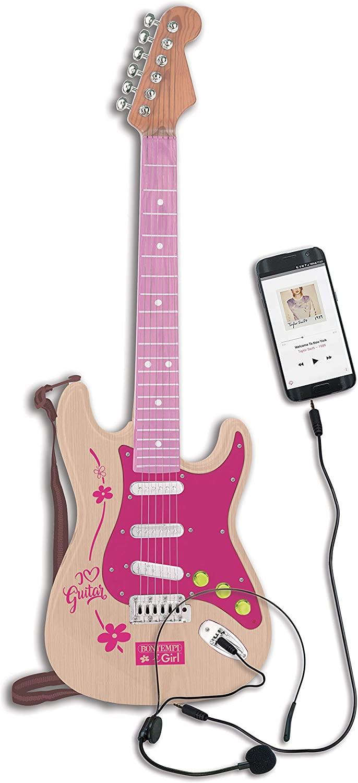 Pink elektronisk rock guitar