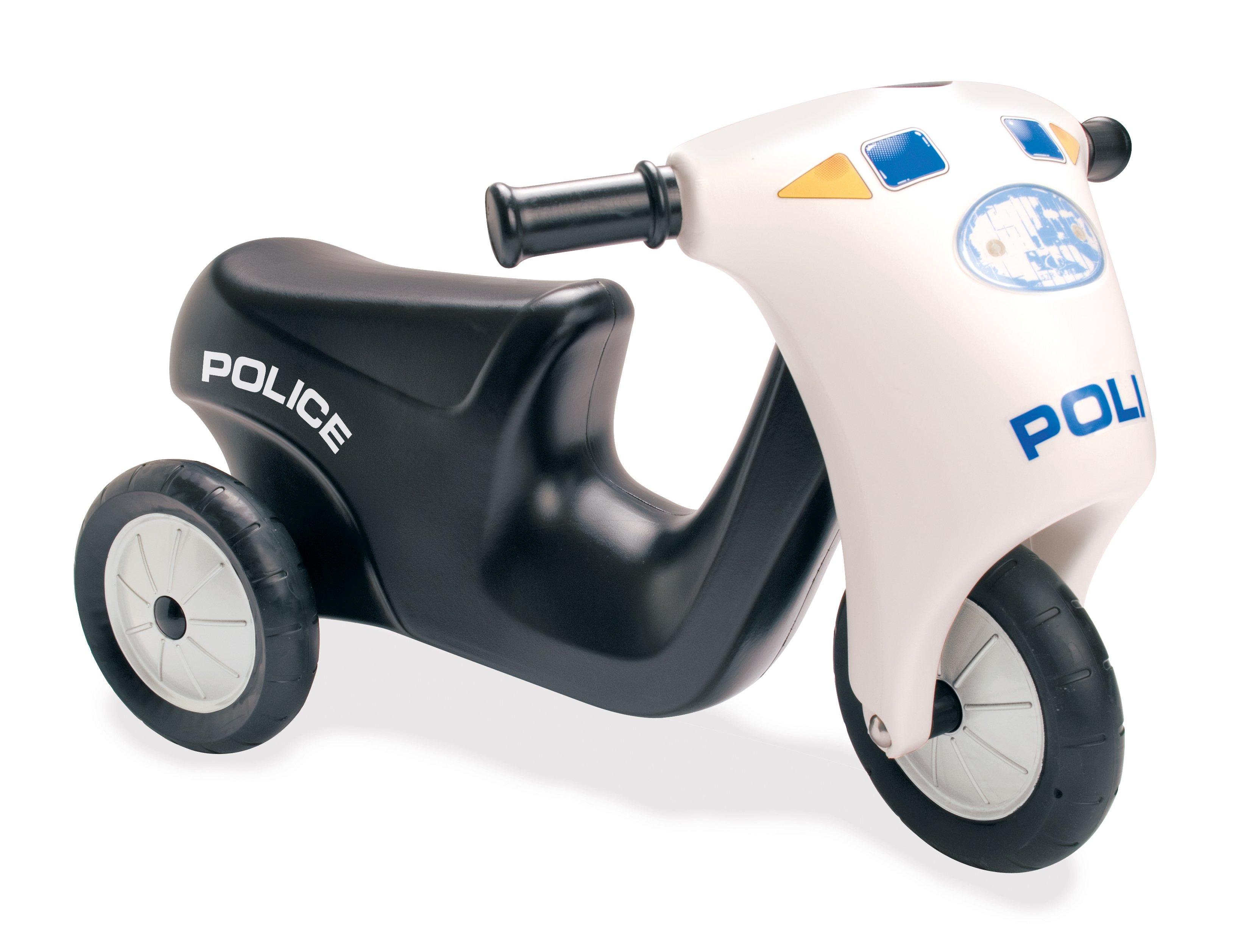 Politi Scooter med Gummihjul