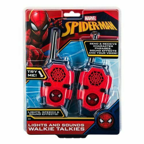 Spider-man Walkie Talkies med lyd og lyseffekter