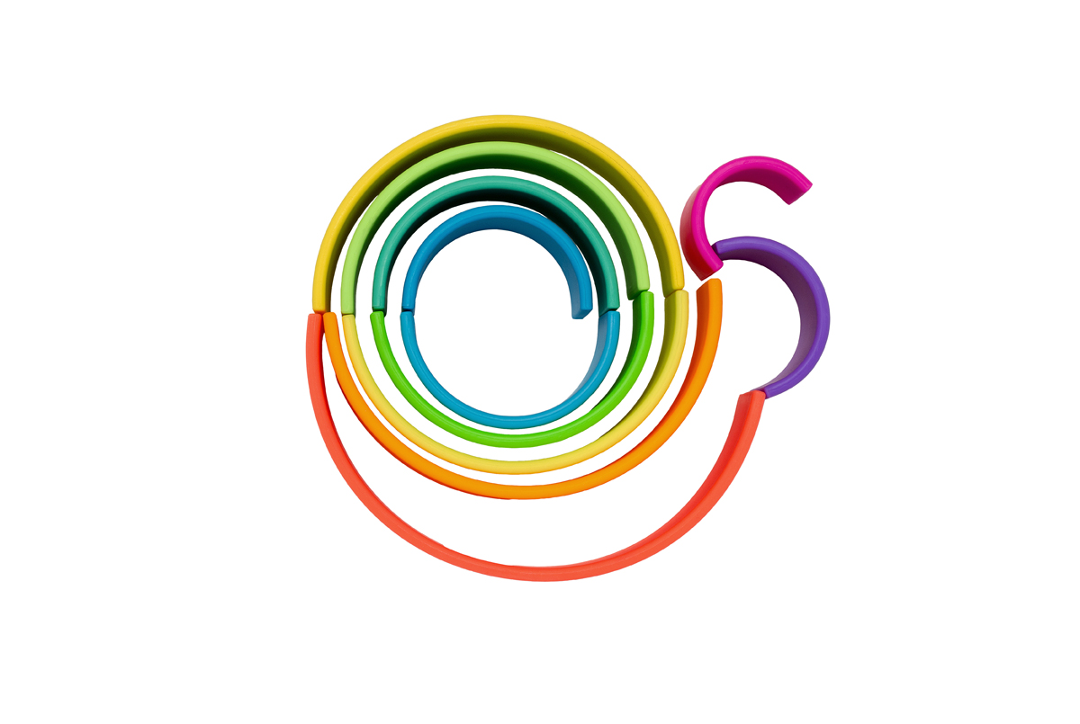 Stor regnbue - Neon, 12 stk