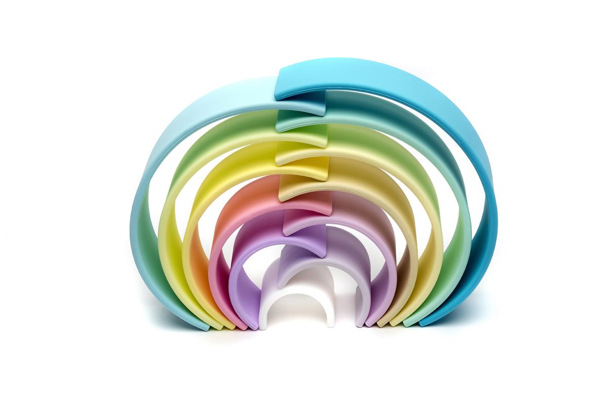 Stor regnbue - Pastel, 12 stk