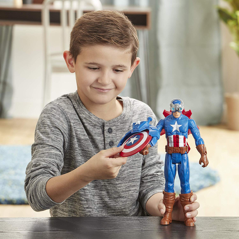 Titan Hero - Blast Gear Captain America - 30 cm