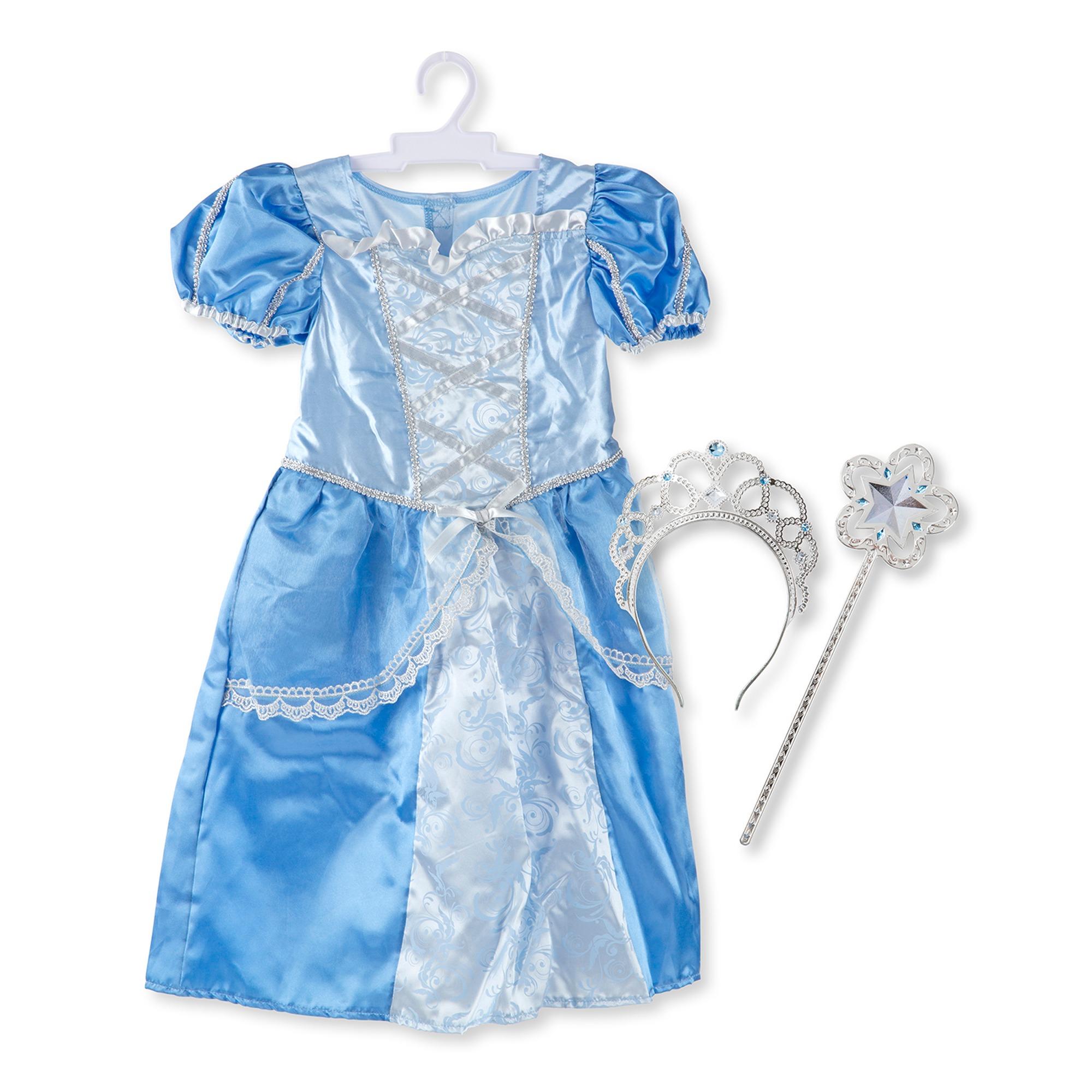 Udklædning - Prinsesse - Blå