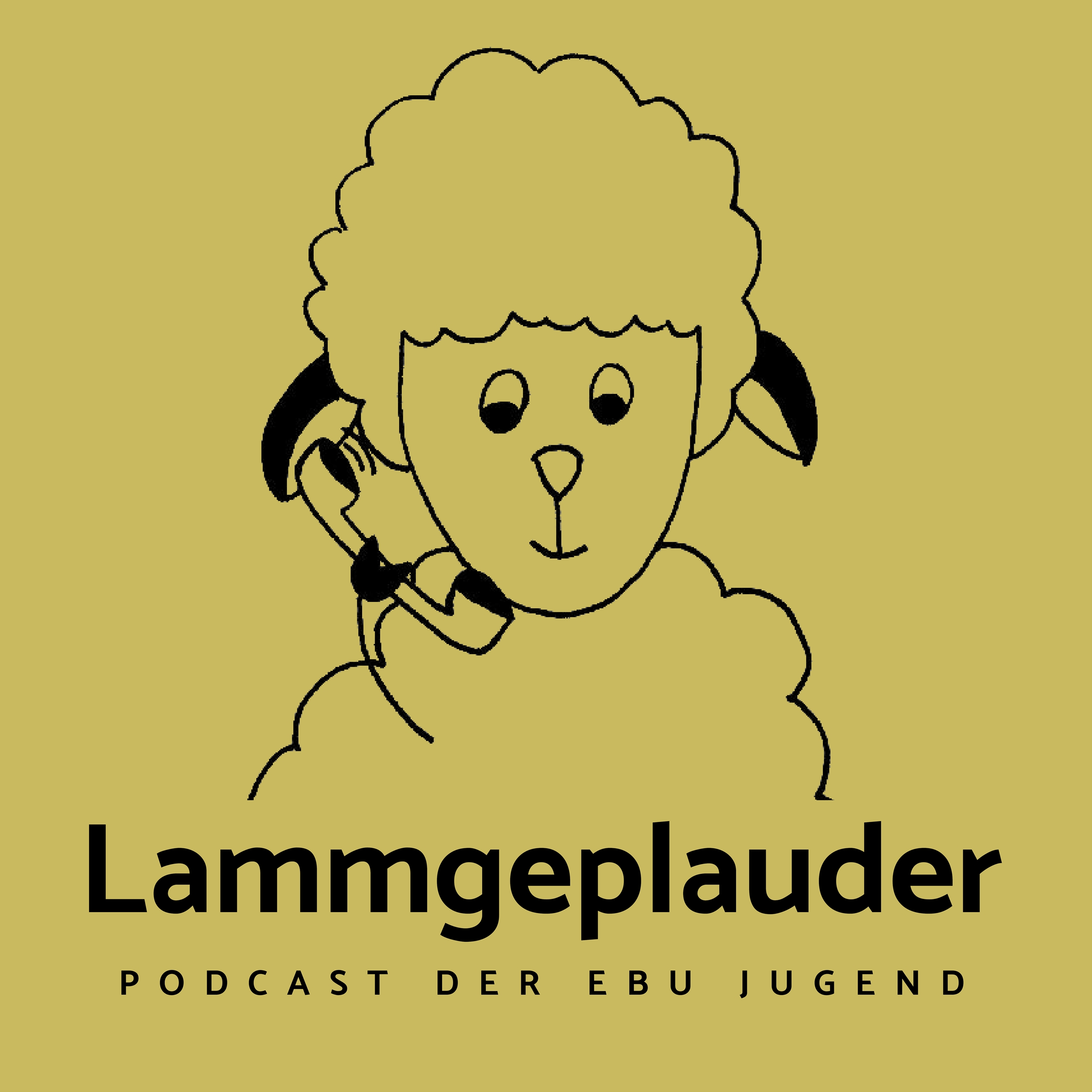 Lamm mit Telefonhörer. Lammgeplauder - Podcast der EBU Jugend
