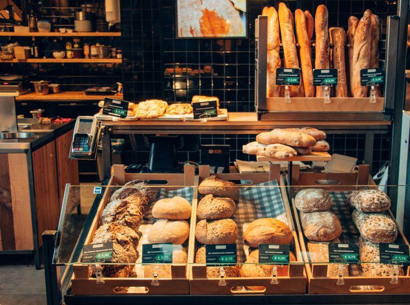 A bakery display