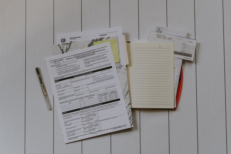 Files on a table