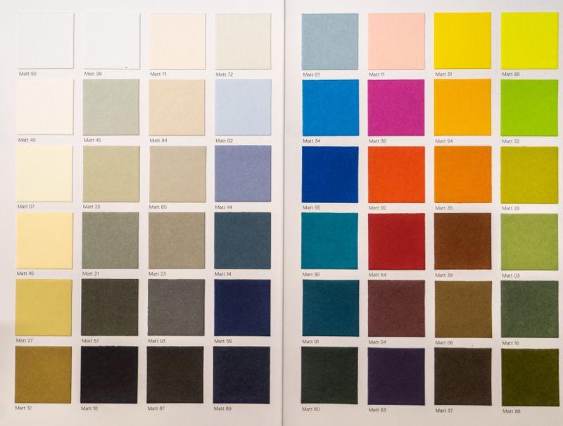 Colourful paint palette