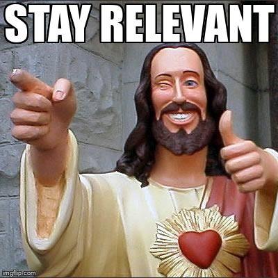 Smiling jesus saying