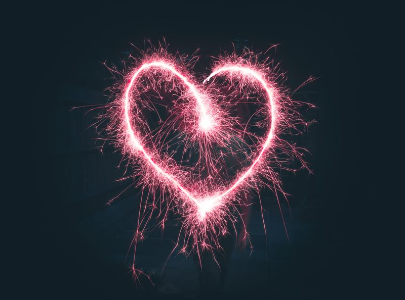 Heart shaped firework.