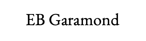 Example of EB Garamond