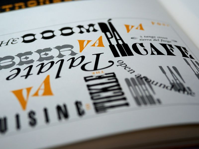 A font guide with different decorative fonts