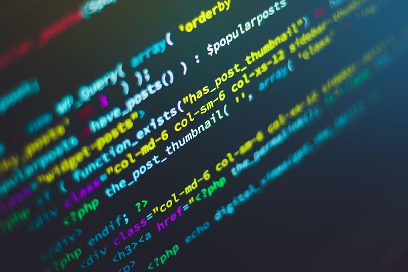 String of computer programming code