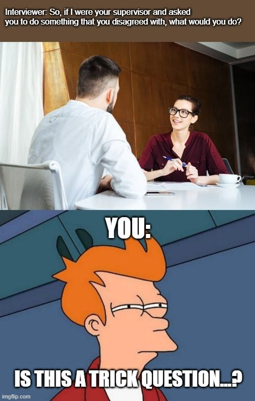 Job interview question: