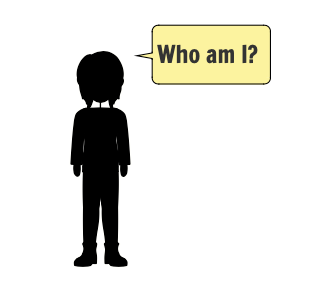 """A person asking, """"Who am I?"""""""