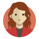Avatar of a woman with brown hair wearing a red jacket