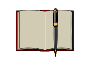 image of a notebook and a pen