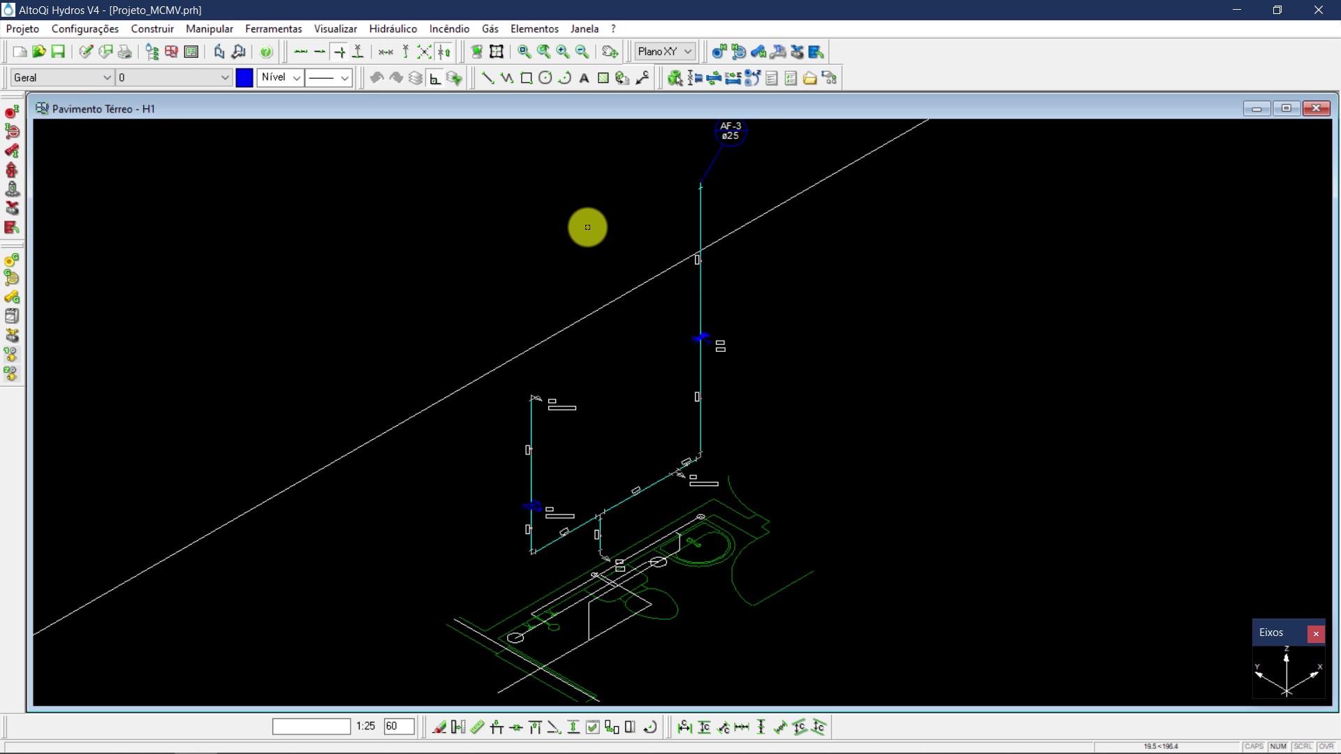 Hydros V4 para Projeto Hidrossanitário Residencial