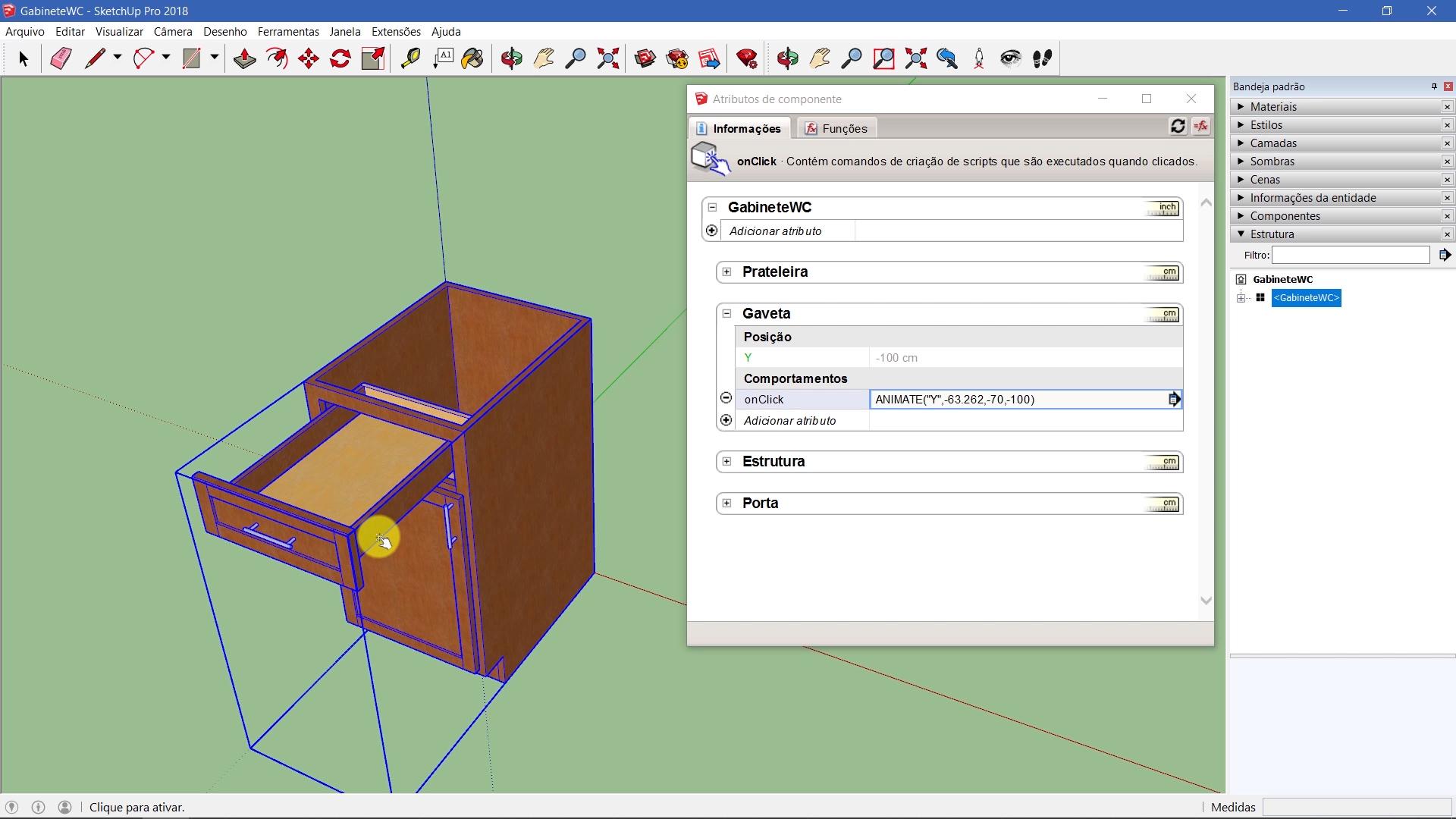 Componentes Dinâmicos para SketchUP