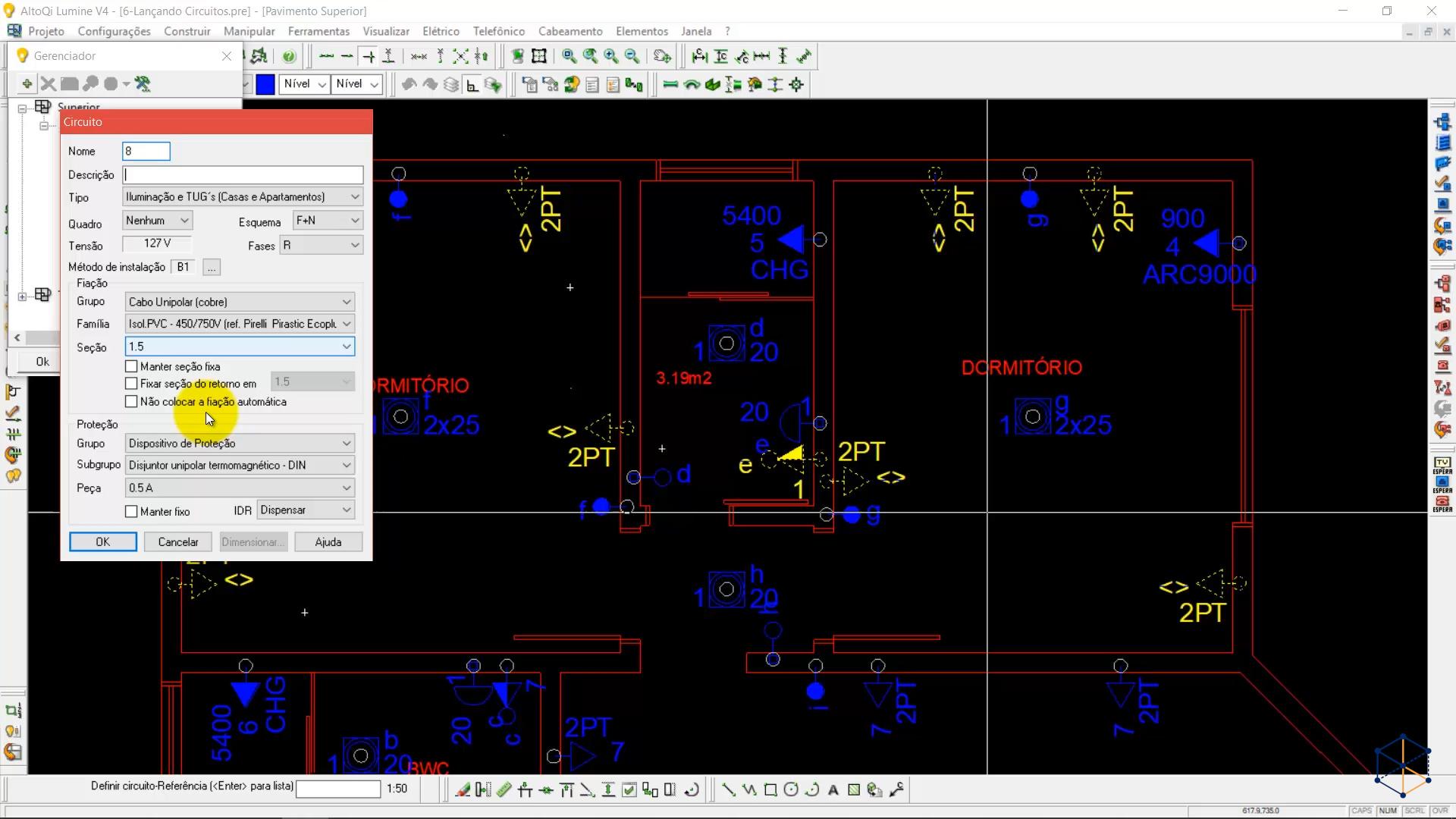Lumine V4 para Projeto Elétrico Predial