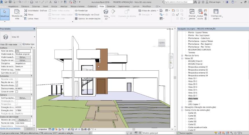 Revit Architecture: Projeto de Aprovação Residencial