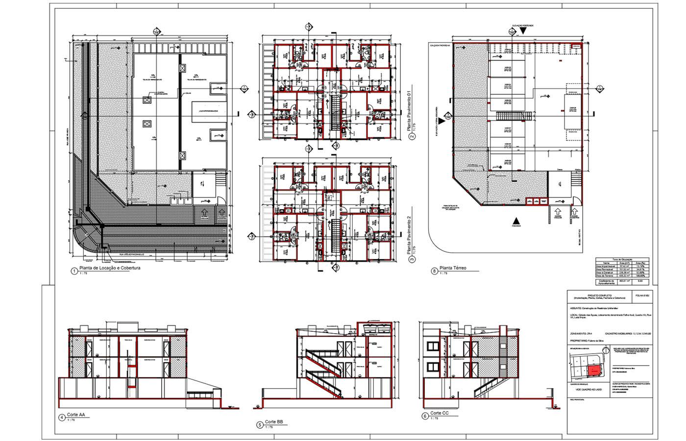 Planta baixa do curso online de revit para arquitetura