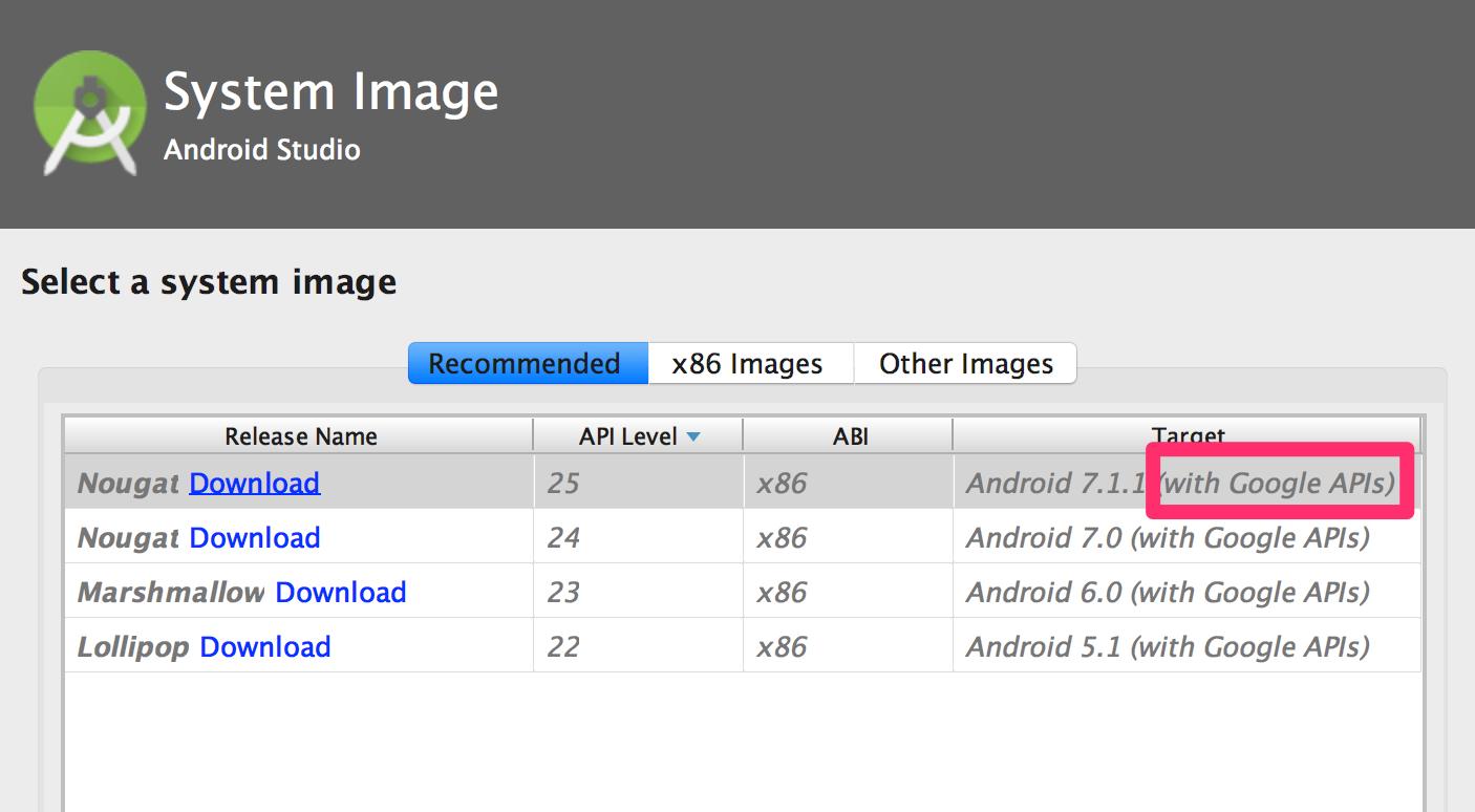 Emulador Google APIs